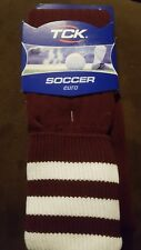 TCK  TWIN CITY SOCCER  Euro - Maroon With White Stripes - Large
