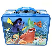 Disney Finding Dory Nemo Small Tin Tote / Metal Lunch Box Easter Basket Gift
