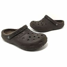 Crocs Adult Lined Clogs Mens 7 Womens 9 Brown