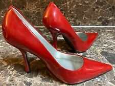 """Guess Women's 6.5 M Red High Heels 4"""" Pumps Stiletto Heel Shoes Pointed Toe Used"""