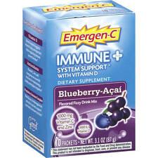 EMERGEN-C Immune System Support  BlueBerry-Acai #10 ea