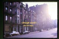 1963 Boston Street Scene and Cars, Original Slide c18b