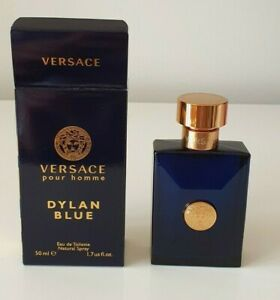 New VERSACE DYLAN BLUE Pour Homme EDT Natural Spray 50 ml