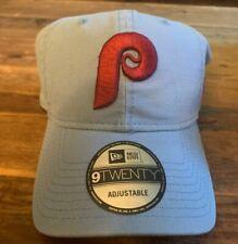 Philadelphia Phillies New Era Strapback Adjustable Hat Cap 920 Powder Blue