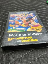 Sega Genesis Mickey Mouse World of Illusion Donald Duck CIB Excellent complete