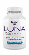 LUNA Kids (60 Tabs) - #1 Natural Sleep Aid Supplement for Child... Free Shipping