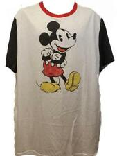 New-Slightly-Dirty Mickey Mouse Disney Mens 2XL 2XLarge  White Licensed Shirt
