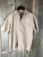 Bruno Size M Brown Button Men shirt  (11A8)