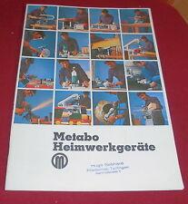 dachbodenfund katalog metabo heimwerker geräte elektro werkzeug maschinen 1970er