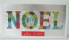 "Hallmark Christmas Silver with Patchwork ""Noel"" Boxed Cards (12 Cards)"