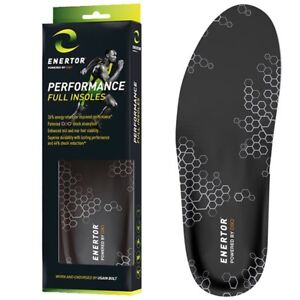 ORTHOTIC INSOLES ENERTOR PERFORMANCE & COMFORT FULL INSOLE D3O Shock Absorption