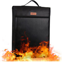 Fireproof Lock Box Bag for Documents Waterproof Safe Money Holder Bags Pouch