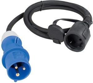 Schwabe CEE-Adapterleitung Caravan 250 Volt- CEE-Stecker und Schutzkontaktkupplu