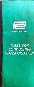 Penn Central April 1968 Rules For Conducting Transportation Book Railroad