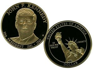 JOHN F. KENNEDY PRESIDENTIAL DOLLAR TRIAL COIN PROOF VALUE $99.95