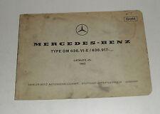 Catálogo de imagen catálogo de piezas de mercedes benz motor diésel OM 636 de 1962