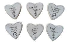 Mini 4cm Ceramic Heart Tiles Sentiments for Home Love and Friendship Gift