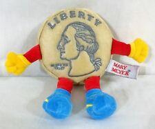 "RARE Mary Meyer George Washington Liberty Nickel Plush 7"" 1998"