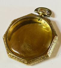 OCTAGONAL 45MM 12S ILLINOIS SUPREME 10K GOLD FILLED POCKET WATCH CASE (P48)