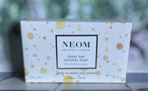 NEOM Scent to Make You Happy Great Day Soap 200g Mint & Mandarin *FAST POST*