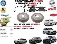 Pour Audi Q5 8RB 2.0 TFSI Tdi Frein Avant Disques Set + Patins Kit + Fil Capteur