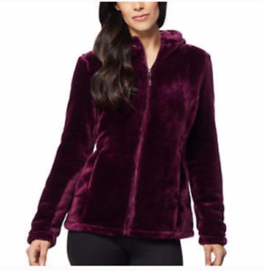 NEW!!! 32 Degrees Womens Cozy Hooded Plush Faux Fur Jacket Size & Color VARIETY