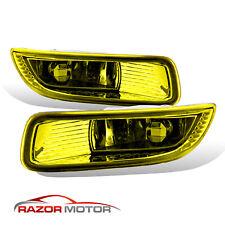 For 2003 2004 Toyota Corolla Yellow Bumper Fog Lights w/ Switch+Harness Kit