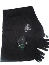 Lauren by Ralph Lauren wool & alpaca Scarf and touch Gloves set Black