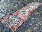 Vintage rug, Hallway rug, Runner rug, Turkish rug, Handmade, Wool | 1,9 x 9,1 ft