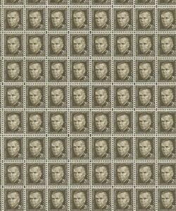 Full  mint sheet of 100  #1289 20¢ George Marshall Prominent Americans MNH OG