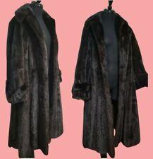 ESTATE PIECE: VINTAGE 1950s LUSH GLAM full-length Natural RANCH MINK FUR Coat M