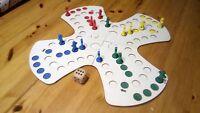 Mensch ärgere Dich nicht aus Holz *Puzzle Spielbrett * LUDO für 4 Spieler