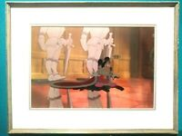 MICKEY MOUSE AS KING IN PRINCE & PAUPER DISNEY PRODUCTION CEL ,NEW, FRAMED w/COA