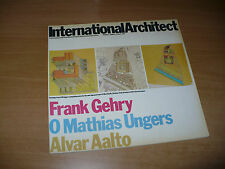 ARCHITETTURA INTERNATIONAL ARCHITECT N.2 1979 FRANK GEHRY O.M.UNGERS ALVAR AALTO