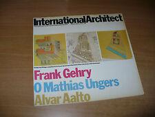 ARCHITETTURA INTERNATIONAL ARCHITECT N.2 1979 FRANK GEHRY O.M.UNGERS ALVAR AALTO