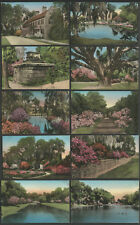 Dorchester Co. SC: Ten c.1920s-30s Hand-Color Postcards MIDDLETON PLACE GARDENS