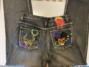 Pepe London Jeans Mens size 38x33 measured  Embroidered pockets