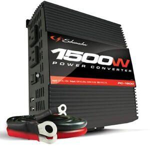New Schumacher PC-1500 1500-Watt Portable Power Converter Inverter