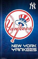 NEW YORK YANKEES Hat-and-Bat Style Official MLB Baseball Team Logo Wall POSTER