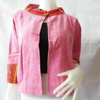 Women Shirt Hmong Suit Top Cloth Thai Traditional Vintage Cotton Long Sleeve