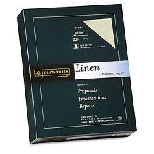 Southworth 25% Cotton Linen Business Paper Ivory 24 lbs. 8-1/2 x 11 500/Box FSC