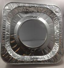 30 pcs Aluminum Foil Square Gas Burner Disposable Bib Liners Stove Covers