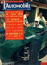 L'AUTOMOBILE n°149 ¤ 09/1958 ¤ STIRLING MOSS SUR COOPER