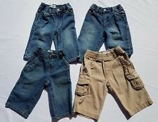 Childrens Place Boys Pants Jeans Sz 6-9 Months Bootcut Utility Kahki Cargo  Lot
