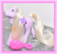 ❤️My Little Pony MLP G1 VTG 1986 FLUTTER PONY Forget Me Not Purple Flowers❤️