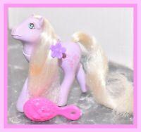 ❤️My Little Pony MLP G1 VTG 1986 FLUTTER PONY Forget Me Not Purple Flowers❤️