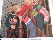 Vintage SEWING PATTERN Jean Greenhowe CHRISTMAS STOCKINGS
