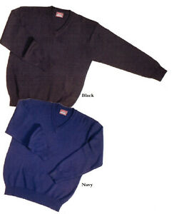 Clearance!! Blue Pacific V neck Jumper SWEATER 50% Wool/50% Acrylic