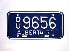 UNUSED 1970 ALBERTA MOTORCYCLE Vintage License Plate # DU9656