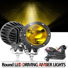 2x4 Cree Led Amber Fog Lights Hyper Spot Bumper Driving Pod Bar Off Roadwiring